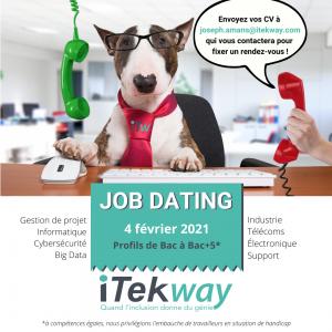 Organisation d'un job dating par l'agence d'iTekway Sud-Est le 4 février 2021.