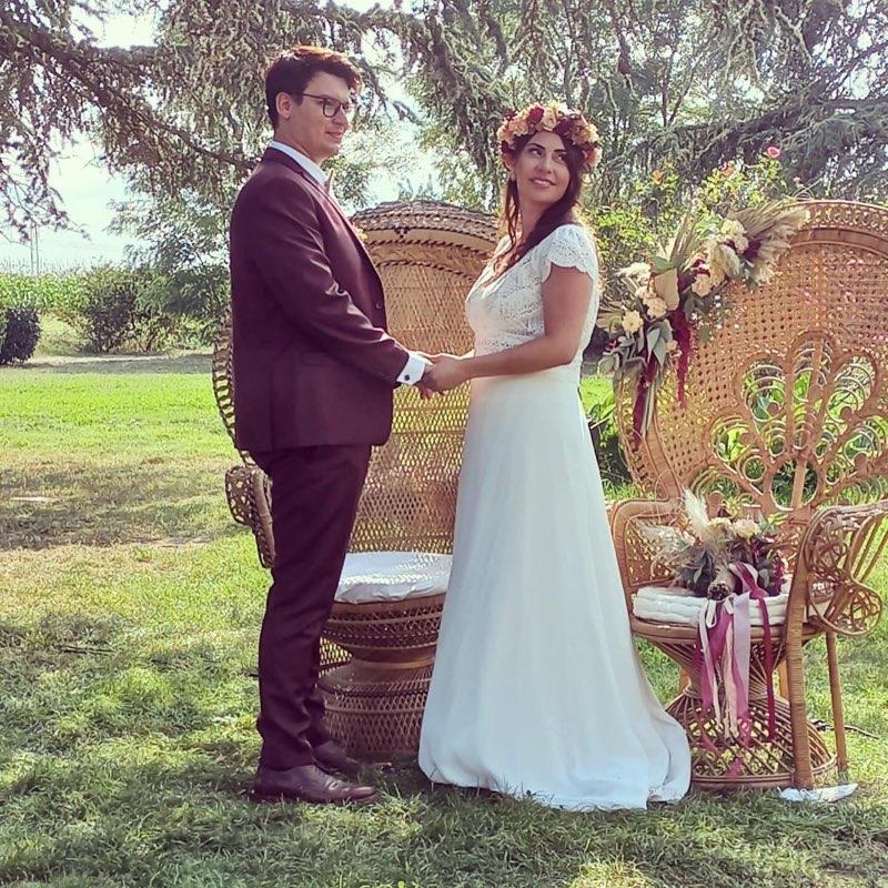 Roxanne et David, les heureux mariés de l'été 2021.